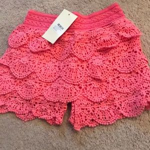 Other - Hot pink lace shorts NWT